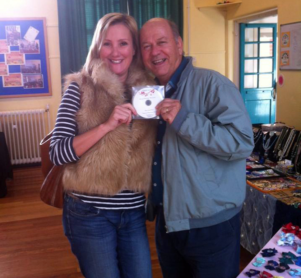 MP Caroline Dinenage buying one of my CD's